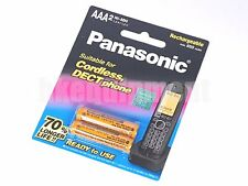 Panasonic Rechargeable NiMH 650 mAh 1.2v AAA DECT Cordless Phone Battery x2