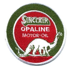 sinclair patch badge motor oil gasoline hot rod drag race dino OPALINE station