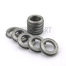 10 X F6802zz Metal Double Shielded Flanged Ball Bearings 15mm24mm5mm