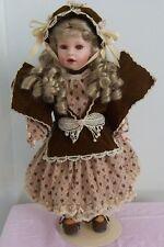 """Vintage Franklin Mint 18"""" Heirloom Coca Cola [Sarah] Porcelain Doll, Limited"""