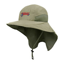 American Outdoorsman Mens Wide Brim Outdoor Sun Neck Protection Flap Hat Khaki