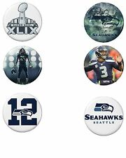 Seattle Seahawks Button Set (6) 1 1/2''