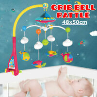 Baby Bed Bell Crib Musical Rotating Bed Bell Cot Music Box Gift Baby