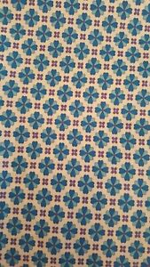Fabric vintage remnant 116 cm x 61 cm genuine 70s craftroom clearout