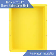 "Flush Mount - Leakproof 16"" x 20"" Square Bathroom Recessed Shower Shelf Niche"