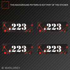 .223 Ammo Can Sticker Set Zombie Edition Die Cut Decal bullet 223