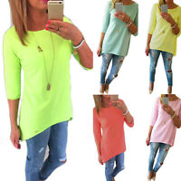 Gift Fashion Women Loose Pullover T Shirt Long Sleeve Cotton Sweater Tops Blouse