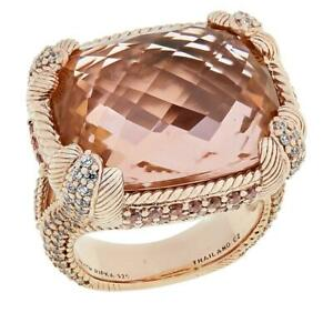 Judith Ripka Rose Gold-Plated Simulated Morganite Ring, Size 7 - HSN $300
