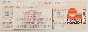 WWF WWE Superstars Of Wrestling Ticket Stub (Feb. 15, 1988, Rosemont Horizon)