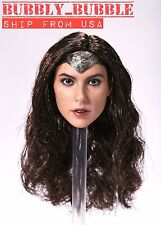 "1/6 Gal Gadot Head Sculpt For Wonder Woman SUPERHERO For 12"" PHICEN Hot Toys USA"