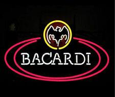 "Bacardi Bat Neon Sign 20""x16"" Light Lamp Beer Bar Display Artwork Windows"