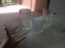 Highball Tumblers Double Old fashioned Glasses Fostoria pressed Crystal Heritage