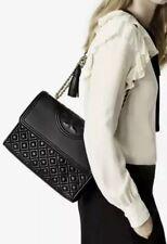 NEW TORY BURCH Large Fleming Convertible Shoulder Bag Black $498