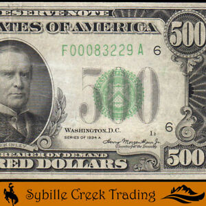 AWESOME 1934-A $500 ATLANTA *FIVE HUNDRED DOLLAR BILL* FRN Fr 2202-F   83229