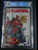 CGC Comic graded 9.8 Deadpool Marvel  #1  cover Key issue skottie young variant