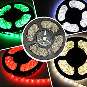 USA Bright 12V 5M 16.4ft 3528 5050 5630 RGB SMD 300 LED Flexible Strip light