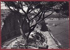 SAVONA ALBISSOLA 48 SPIAGGIA Cartolina FOTOGRAFICA viaggiata 1954