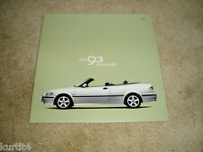 2001 Saab 9-3 convertible SE Viggen sales brochure dealer literature