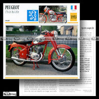 #032.20 PEUGEOT GS 176 & 175 BOL D'OR 1953 Fiche Moto Sport Motorcycle Card