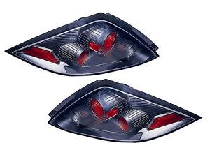 2003-2005 Honda Accord Coupe Altezza Style Gun Metal Rear Tail Light Set & Bulbs
