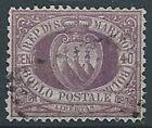 1877-90 SAN MARINO USATO STEMMA 40 CENT - RR13943