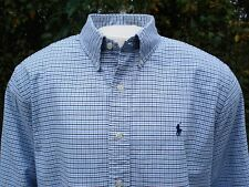 "RALPH LAUREN SHIRT L BLUE LABEL 17"" COLLAR 53"" CHEST PREMIUM BROADCLOTH WEAVE"