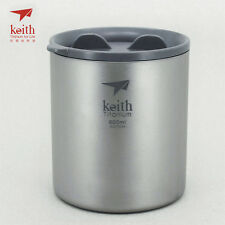 Keith Titanium Ti3306 Double-Wall Mug - 20.3 fl oz (Shipped from California, US)