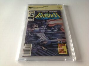 PUNISHER LIMITED SERIES 1 CBCS 9.6 NEWSSTAND SIGNED MARVEL COMICS LIKE CGC