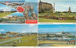 4 x FLEETWOOD  Postcards   - Lancashire    (V56)