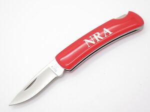 Vtg 1994 Buck 525 Gent Red NRA ILA Knight Folding Lockback Pocket Knife