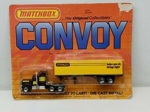 Vintage 80's Matchbox CONVOY Tractor Trailer STANLEY TOOLS in Blister Pack