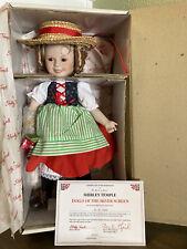 Shirley Temple Heidi doll Danbury Mint dolls of the silver screen