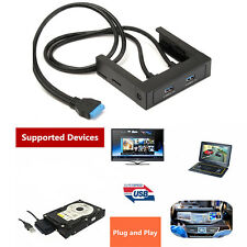 3.5'' USB 3.0 Front Panel PC Computer 2 Port USB 3.0 Socket+Holder 2.5'' HDD/SSD