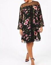 Lovedrobe Mesh Insert Swing Dress Size UK20 {R61}