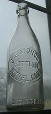 Antique J.F. Nichols Bethel,Conn, Blob Top 12 oz/ Root Beer/Opera Bottle c.1900