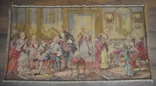 LOVELY LARGE OLDER BELGIUM TAPESTRY WITH CHARMING SALON SETTING W HINTS OF COLOR