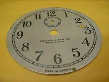 "Vintage Chelsea Clock Company 3-3/4"" Replacement Silver Colored Dial F-S E441b"