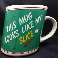 Golf Golfers Mug Coffee Cup Bad Shot to Right Slice Crooked Slanted Tee Green
