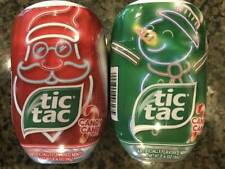 Large Size Candy Cane Christmas Holiday Tic Tac Mints 2 Packs Free Shipping