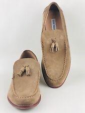 STEVE MADDEN Men's Brown Suede Leather Tassel Loafer Shoes UK 9 | EUR 43 | US 10