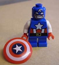 Lego Superhelden - Captain America ( kurze Beine Avengers Schild blau rot ) Neu