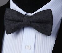 Men's Pre-tied Bow Tie Classic Adjustable Wool Formal Butterfly Wedding#BRYL