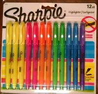 NEW Sharpie Accent Pocket Style Highlighter, 12-Pack, Assorted Colors (27145)