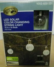 Hampton Bay 10-Light 12 ft. Integrated LED Clear Crackle Glass Ball String Light