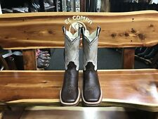 Bull Neck Leather Quality Western Square Toe Boots Botas Cuello de Toro Rodeo