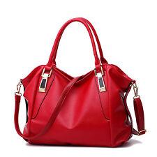 Rot Damentasche Leder Handtasche Modern Shopper Bag Umhängetasche Schultertasche