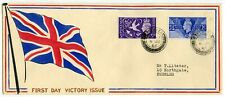 Great Britain 1946 Peace/ Victory issue superb hand-painted FDC from Peebles