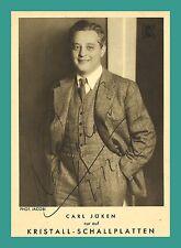 CARL JÖKEN   Tenor   Original-Autogramm auf Plattenlabel-Starpostkarte