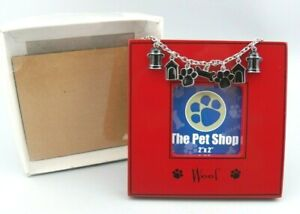 """The Pet Shop """" Woof """" Picture Frame by Dennis East 4.5"""" Square NOB"""