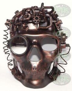 Maschera antigas Steampunk Occhiali Spikes Scheletro Guerriero Maschera mortuaria Travestimento Cosplay Costume di Halloween oggetti di scena Maschera antigas punk Occhiali di Halloween Accessori